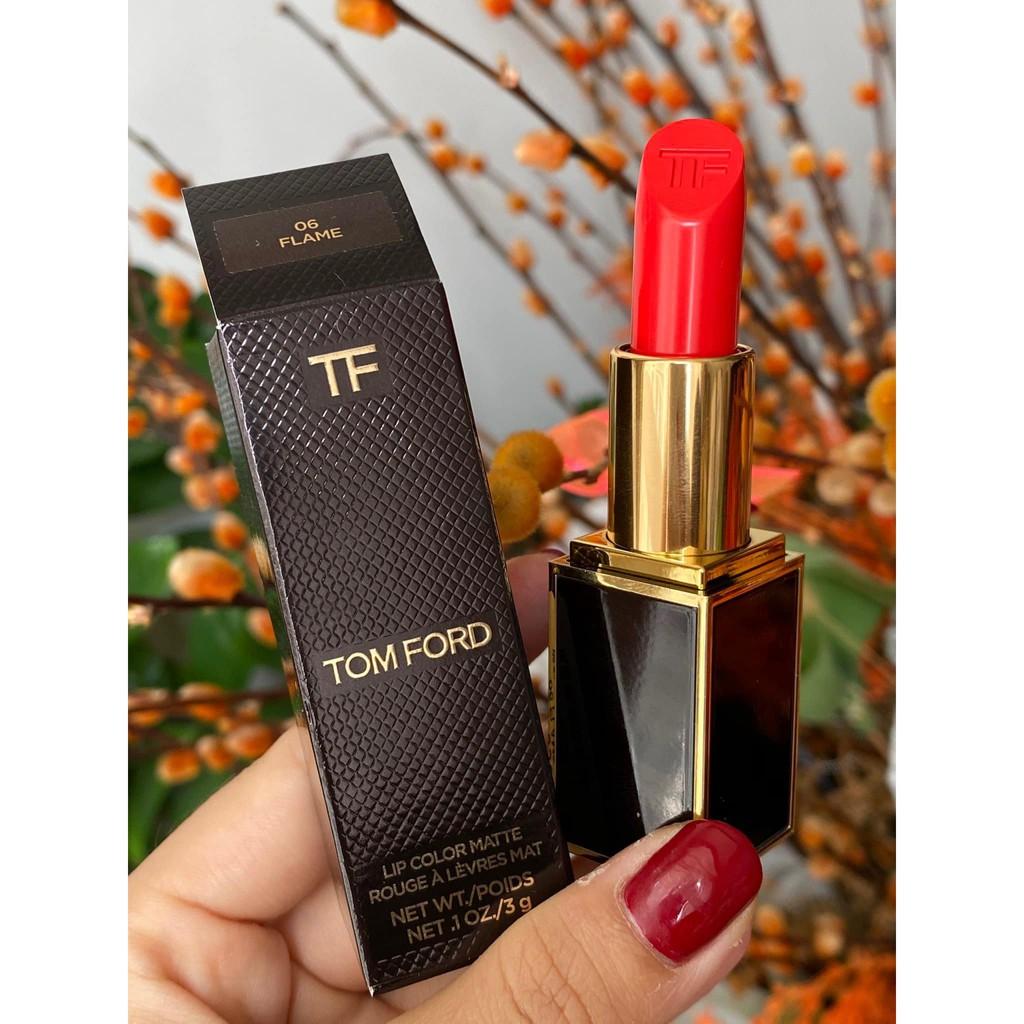[SON TOM FORD CHÍNH HÃNG] Son Tom Ford Matte Màu 07 Ruby Rush + Màu 06 Flame + Màu 27 Shameless + Màu 24 Marocan)
