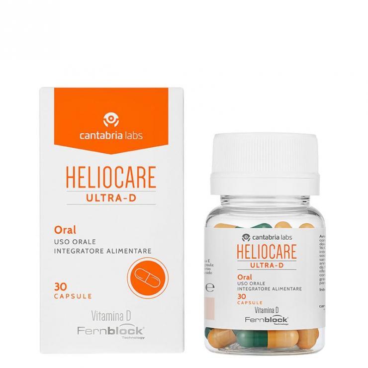 Viên Uống Chống Nắng Heliocare Oral Ultra D Bảo Vệ Cao, Bổ Sung Vitamin D ( Hộp 30 Viên Nang)