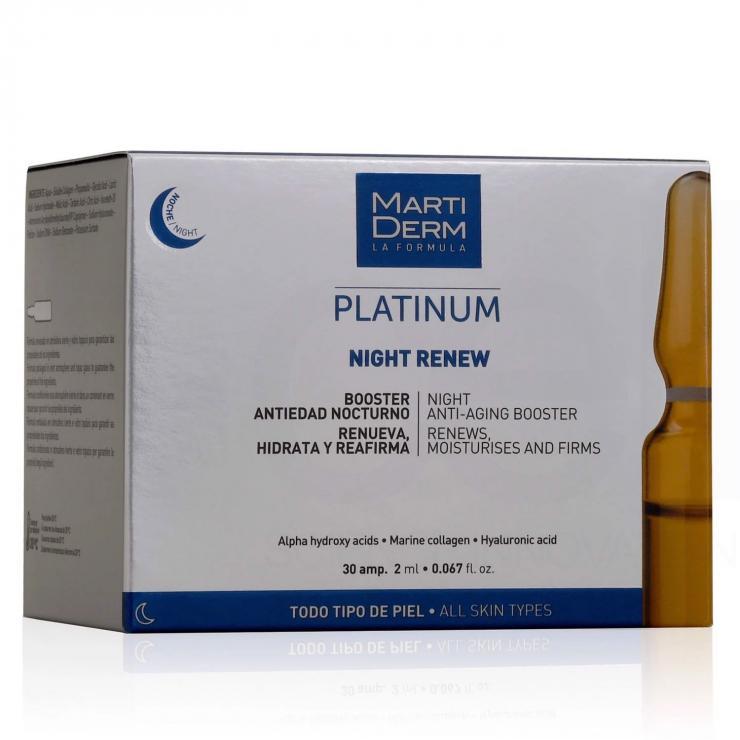 Ampoule Chống Lão Hoá & Tái Tạo Da Ban Đêm - MartiDerm Platinum Night Renew