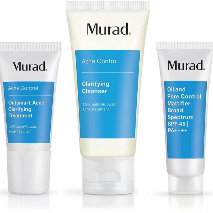 Bộ Sản Phẩm Murad Giúp Làm Sạch Sâu, Kiểm Soát Dầu Và Nói Không Với Mụn 60ML