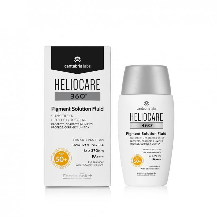 Kem Chống Nắng Ngăn Ngừa Và Kiểm Soát Tình Trạng Tăng Sắc Tố, Đốm Nâu Heliocare 360° Pigment Solution Fluid SPF 50