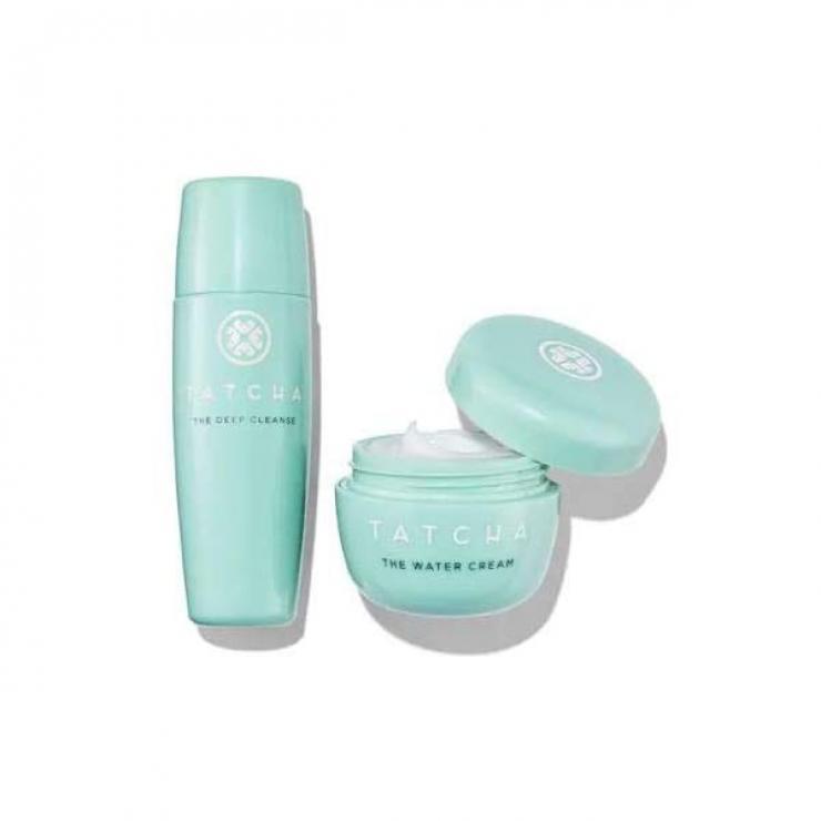 Set Kem Dưỡng Ẩm và Sữa Rửa Mặt Tacha The Deep Cleanse & The Water Cream Set